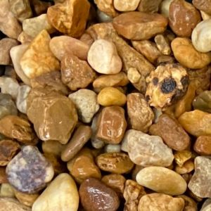 brown river rock (3/4 in)